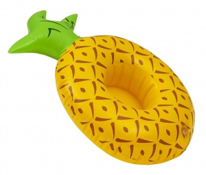 Enjoy Summer inflatable cup holder pineapple 24 cm yellow