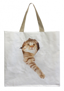 Esschert Design shopping bag Cat in the bag 23 liters polyester