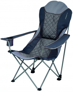 Eurotrail camping chair Elba104 cm polyester/steel black/grey