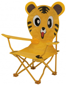 Eurotrail high chair Tijger60 x 26 cm polyester/steel junior yellow