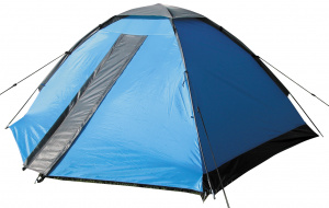 Eurotrail tent Festival 2-persoons polyester/fiberglas blauw