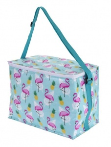 Excellent Houseware kühltasche Tropical- Flamingo 10 Liter hellblau
