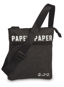 Fabrizio shoulder bag Paper 0.6 liter black