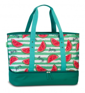 Fabrizio beach bag with refrigerated compartment 43 litres green