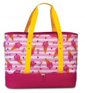 Fabrizio beach bag with refrigerated compartment 43 liters pink