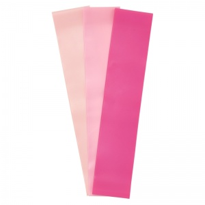 Fit Essentials resistance tape set latex 3 levels pink