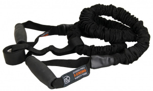 Fitness-Mad weerstandsband Extra Strong rubber zwart