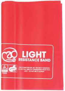 Fitness-Mad resistance tape light 150 x 15 cm latex red