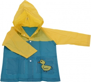Free and Easy imperméable enfant junior bleu/jaune