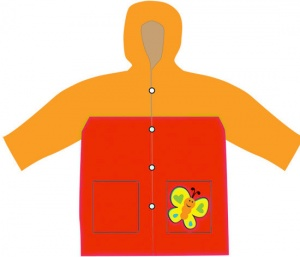 Free and Easy imperméable enfant junior rouge/orange