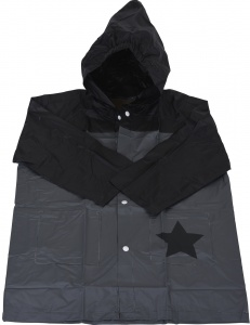 Free and Easy imperméable enfant junior gris/noir