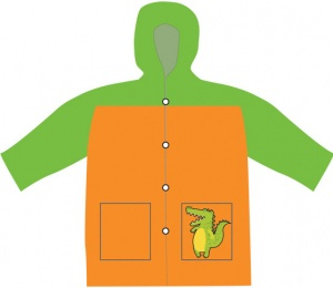 Free and Easy imperméable enfant junior orange/vert