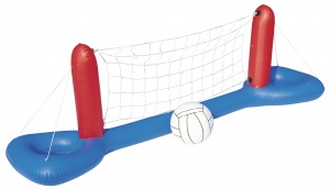 Free and Easy opblaasbaar volleybalspel 244 cm blauw