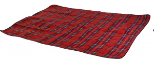 Free and Easy picnic blanket fleece 2-sided 130x160 cm red