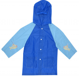 Free and Easy raincoat junior polyester dark blue