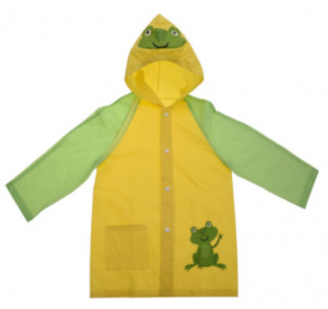 Free and Easy raincoat junior polyester yellow