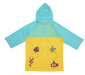 Free and Easy raincoat junior polyester yellow/turquoise