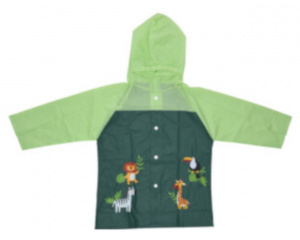Free and Easy raincoat junior polyester green