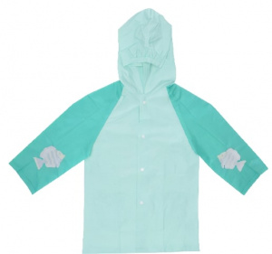 Free and Easy raincoat junior polyester light blue