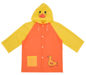 Free and Easy raincoat junior polyester orange