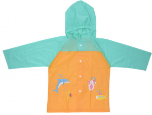 Free and Easy raincoat junior polyester orange/turquoise