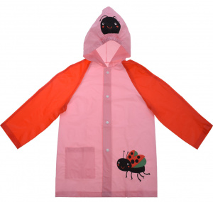 Free and Easy raincoat girls polyester pink