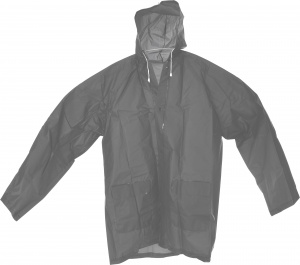 Free and Easy impermeable con capucha gris unisex talla M