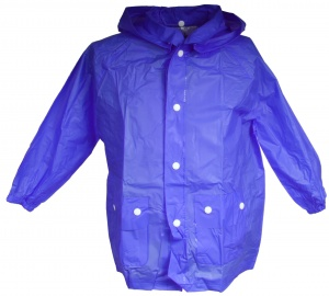 Free and Easy raincoat with hood unisex blue