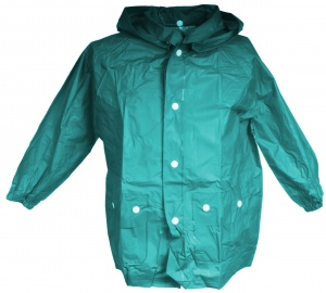 Free and Easy raincoat with hood unisex green