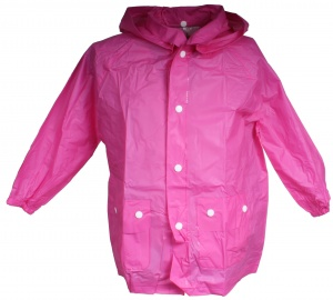 Free and Easy raincoat with hood unisex pink