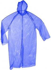 Free and Easy raincoat one size unisex blue