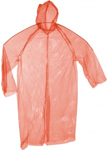 Free and Easy raincoat one size unisex red