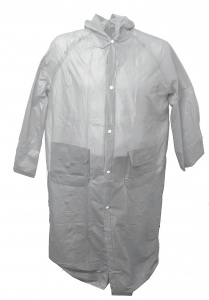 Free and Easy raincoat long with hood unisex grey