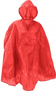 Free and Easy rainponcho one size unisex red