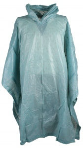 Free and Easy regenponcho unisex blauw regeldruppel one size