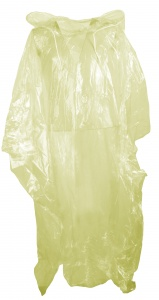 Free and Easy regenponcho unisex geel one size