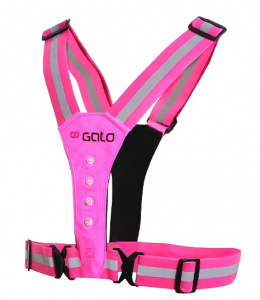 Gato Sports reflection vest Safer Sport junior polyester pink