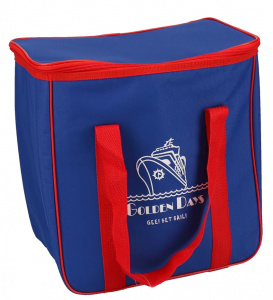 Gerimport cooler bag 35 x 35 cm 20 litres polyester blue/red