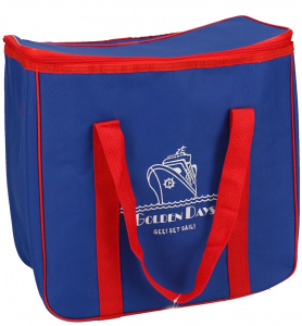 Gerimport cooling bag 40 x 22 x 28 cm 24 litres polyester blue/red