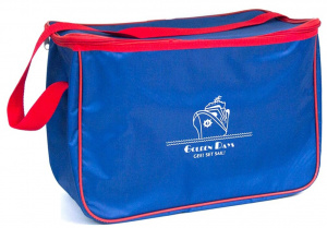 Gerimport cooling bag 40 x 28 cm 24 litres polyester blue/red