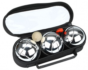 Get & Go Bowls Set 3 Chrome Balls 1 Stripe
