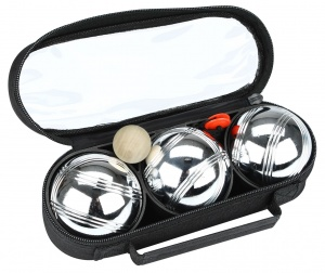 Get & Go Bowls Set 3 Chrome Balls 3 Stripes