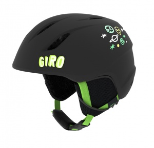 Giro skihelm Launch junior matzwart/groen