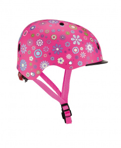 Globber casque Elite Lights taille 48/53 cm rose