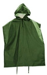 Greenlands Poncho Unisex Polyester Groen