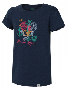 Hannah T-shirt Migella Jr.girls polyester dark blue