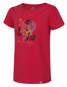 Hannah T-shirt Migella Jr.girls polyester red