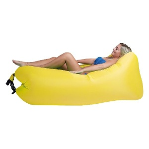 Happy People lounger to go 2.0 ligzak geel
