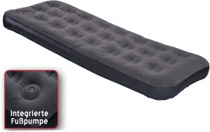 Happy People air mattress 1-person with foot pump 191 x 75 x 22 cm
