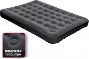 Happy People air mattress 1.5-person with foot pump 191 x 137 x 22 cm